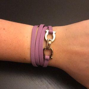 Ferragamo Giancini leather wrap bracelet